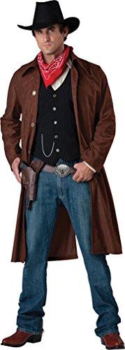 [Mens Gritty Gunslinger Western Costume sz Large] (Deluxe Gunslinger Costume)