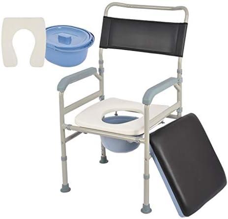 Wei Zhe トイレチェア、ホーム高齢者障害者リムーバブル便座快適な背もたれとシートクッション、高さ調節 ホームケア (Color : A)
