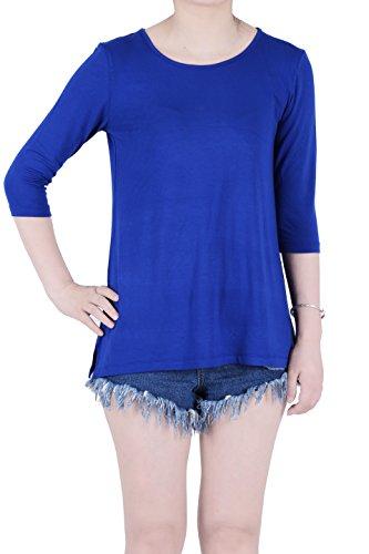 Sleeve Longer Length T-shirt (Favelem Women 3/4 Sleeve Loose Short Tunic Top T)