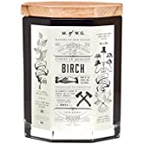 Makers of Wax Goods Large Richly Scented Candle Wood Wick -- Birch