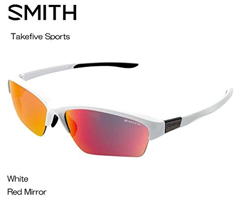 SMITH(スミス) Takefive Sports 【フレーム】WHITE 【レンズ】RED MIRROR 203350444 サングラス   B073RZ6GKD