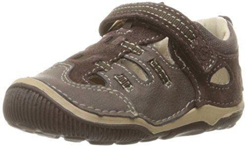 Stride Rite Kids SRT Reggie Sport Sandals, Brown, 4.5 M US Toddler