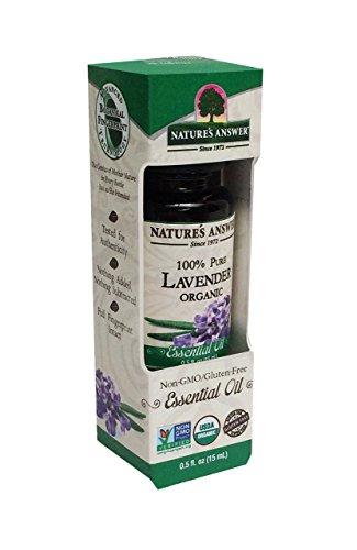 Nature's Answer 100% Pure Organic Essential Oil, Lavender, 0.50 -