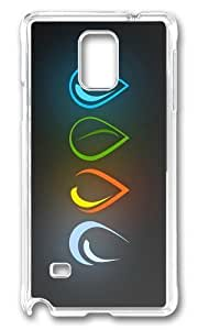 Adorable four elements drops Hard Case Protective Shell Cell Phone Ipod Touch 4 - PC Transparent