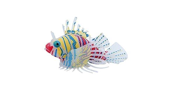 Adorno artificial para acuario con diseño de león para peces, peceras, peceras, tanques y decoración: Amazon.es: Hogar