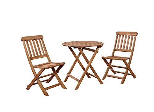 Linon  Café Set, Teak ()