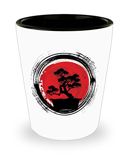 Bonsai Tree Shot Glass Sayings - Japanese Vintage Shot Glasses Funny Gifts (Glass Japanese Vintage)