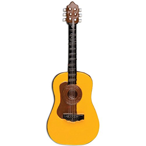 Personalized Acoustic Guitar Christmas Tree Ornament 2019 - Classic Wooden Music Instrument Guitarist Performs Recital String Hobby Profession Teacher Yellow Brown Gift Year - Free Customization
