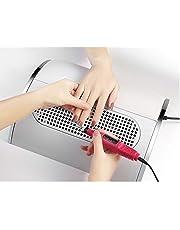 Nail Dust Collector Zuig Extractor Krachtige Nail Vacuüm Cleaner No-Spilling Filter Professionele Salon Manicure Machine, voor Nagel Salon of Thuisgebruik Kerstcadeau 40W Lage lawaaierig met 3 fans