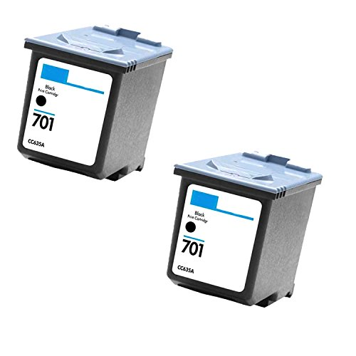 2 Pack Cc635a HP 701 Black Compatible Inkjet Cartridge for Hp 701 Hp Fax 640, 650, 2140 (Inkjet 2140 Fax)
