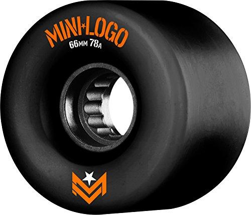 Mini-Logo Skateboards Mini-Logo A.W.O.l. A-Cut 66 x 78A Black Skateboard Wheels, 66mm