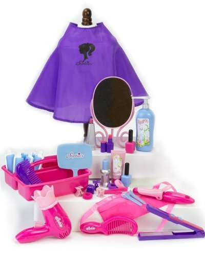 - 18 Inch Doll Pretend Play Hair Salon 30 Pc. Set by Sophia's. Combo Child Sized & Doll Sized Complete Hair Accessory Set for American Dolls, Doll Furniture & More! 18 Inch Doll Hair Care Kit Play Set