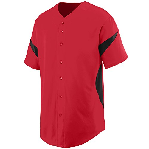 Augusta Sportswear MEN'S WHEEL HOUSE BASEBALL JERSEY 3XL Red/Black