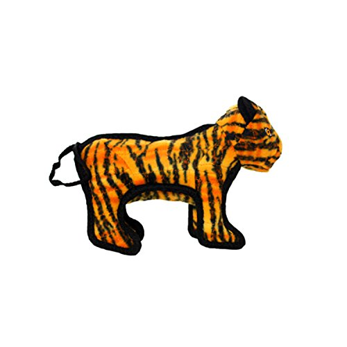TUFFY Junior Zoo Animal Tiger, Durable Dog Toy, - Tiger Juniors