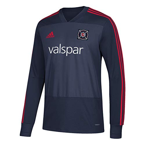 adidas Chicago Fire MLS Men's Navy Blue Climacool Long Sleeve Team Color Training Jersey (XS)
