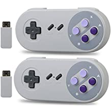 Veanic 2-pack 2.4G Wireless Controller Gamepad for SNES Nintendo Classic Mini Super NES Classic Edition Entertainment System