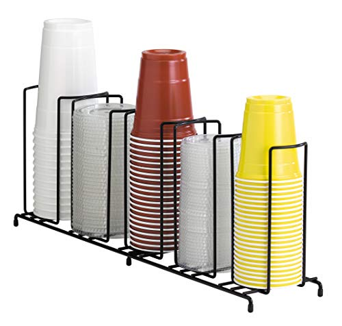 Dispense-Rite WR-5 Five Section Wire Rack Cup and Lid Organizer by DISPENSE-RITE