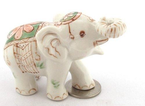 Dollhouse Miniatures Ceramic Color Elephant Incense FIGURINE Animals Decor by ChangThai Design