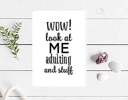 Tarjeta de felicitación de adulto y cosas para cumpleaños ...