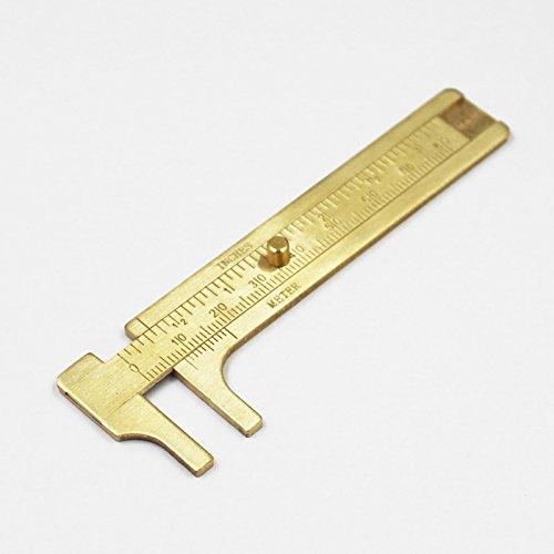 [해외]미니 버니어 캘리퍼스 측정 도구 황동 슬라이딩 게이지 80mm/Mini Vernier Caliper Measure Tool Brass Sliding Gauge 80mm
