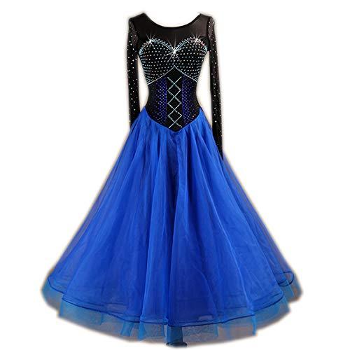 【正規品質保証】 garuda XL 社交ダンスドレス B07JLKHSS8 モダンダンスウェアロングワンピース 黒+青  ワイヤストーン飾 サイズオーダー可 B07JLKHSS8 XL|黒+青 黒+青 XL, ナックたすかる:d222714a --- a0267596.xsph.ru