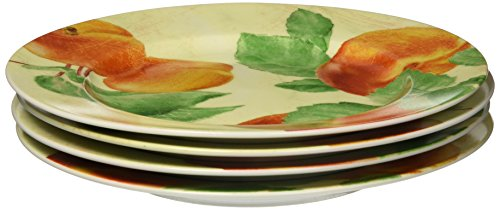 Paula Deen Georgia's Bounty 4-Piece Salad Plate (Paula Deen Green)