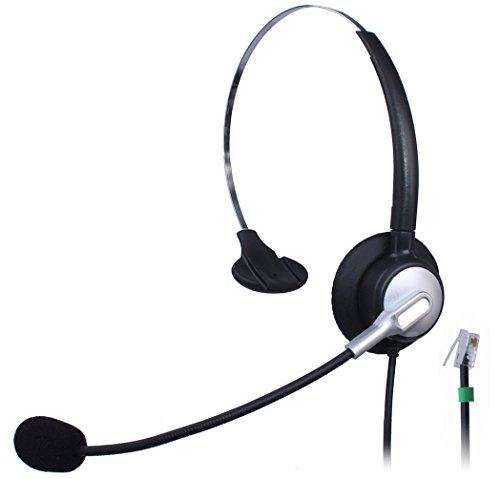 Wantek Wired Call Center Telephone Headset Headphone with Mic for NEC Aspire DT300 DSX Polycom 335 400 Avaya 1416 Aastra 6757i Mitel 5330 ShoreTel IP230 IP ()