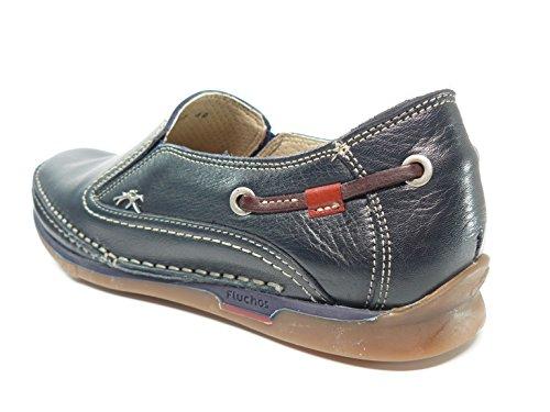 azul casual Marino piel FLUCHOS marino elasticos laterales Zapato hombre 7580 53n Azul en 46Cqw