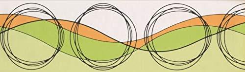 Wallpaper Border Circles Wave Design 7