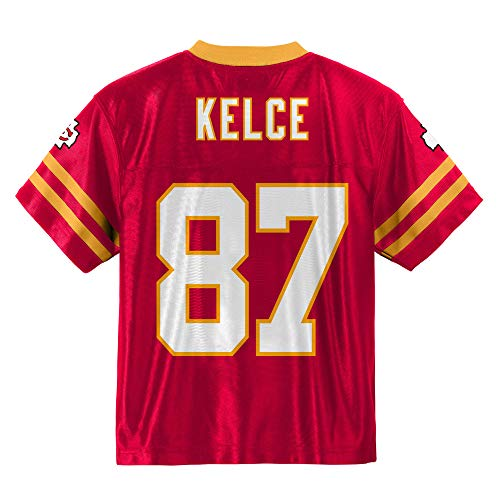 Outerstuff Travis Kelce Kansas City Chiefs #87 Red Toddler Home Player Jersey (2T)