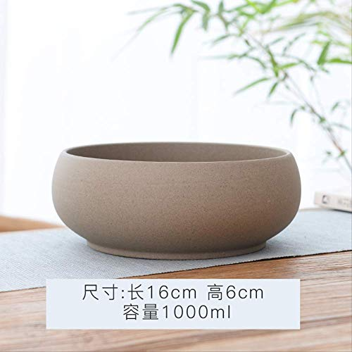 Zhihuoyou Daffodils Basin Porous Copper Grass Flowerpot White Bowl Lotus Basin Water Lily Hydroponic Flowerpot Multi-Meat Platter Flowerpot Ceramics Coarse Pottery Solid Color Caliber 16Cm