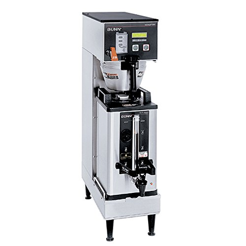 BUNN 33600.0000 Single Soft Heat Brew-wise Commercial Coffeemaker, Black/Stainless Steel
