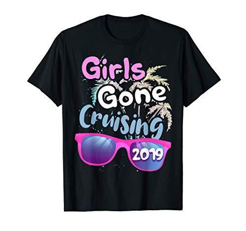 Girls Gone Cruising T-Shirt Cruise Vacation 2019 Trip TShirt - Gone Yellow T-shirt