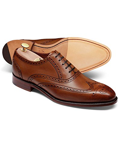 Scarpa Oxford Ashton Budapester Con Calotta In Pelle Di Vitello Marrone Cioccolato