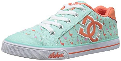 DC Girls' Chelsea Graffik Skate Shoe-K, Misty Blue, 10.5 M US Little - Kids Chelsea Dc Shoes