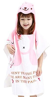 Infant Kids Animal Design Hooded Bath/Beach Poncho Towel
