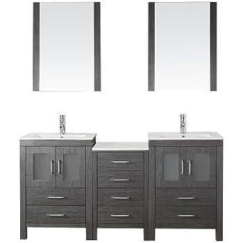 Virtu usa kd 70066 wm zg modern 66 inch double sink - 66 inch bathroom vanity double sink ...