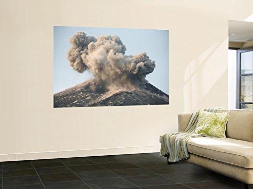 Ash Cloud from Vulcanian Eruption of Anak Krakatau Volcano, Sunda Strait, Java, Indonesia Wall Mural by Stocktrek Images 48 x 72in by STOCKTREK IMAGES POD
