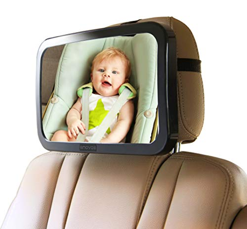 Enovoe Baby Car Mirror with Bonus Cleaning Cloth