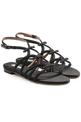 Tabitha Simmons Women's Minna Bow Sandals, 38B Black for sale  Delivered anywhere in USA