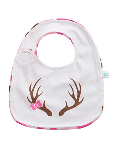 Price comparison product image Baby Laundry Cotton Knit Reversible Bib for Girls - Pink Camo (3-6 Months)