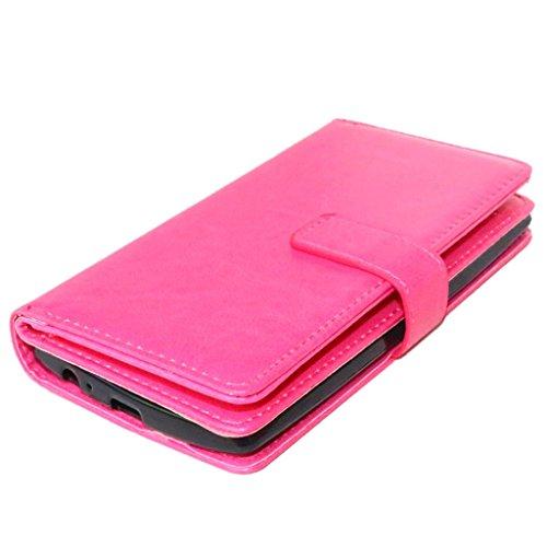 UBMSA-Neue Luxus-Leder-Mappen-Schlag-Standplatz-Fall-Abdeckung Taschen and Schalen f¨¹r LG G3 [Eingebaute 9 Kreditkarten Slots]