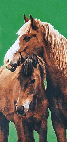 Country Cowboy Horses Velour 30x60 Beach Towel Bath Towel