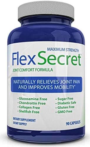 Maximum Strength Flex Secret ~ Joint Pain Relief ~ Best Joint Health Supplements for Men and Women