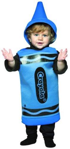 Rasta Imposta Crayola Toddler Costume, Blue, (Crayola Crayon Costume)