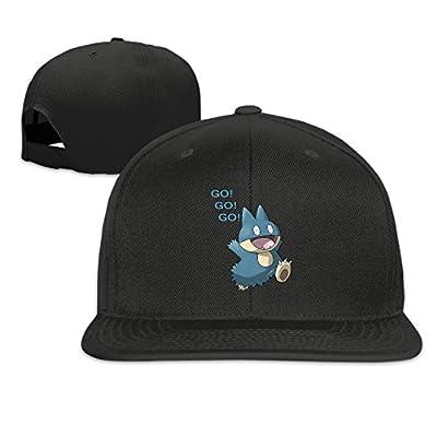 Karoda Snorlax Flat Brim Baseball Caps Hip Hop Hat