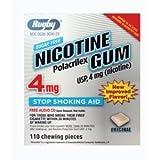Rugby Nicotine Gum 4mg Sugar Free Original 110 Pieces Pack of 6