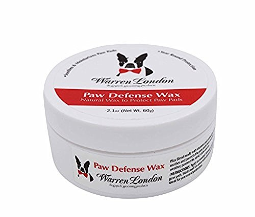Warren London Top Paw Defense Wax - Soothes, Moisturizes and Protects Dry Cracked Paw Pads for Dogs and Puppies 2.1 oz - London Natural