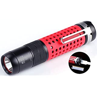 Small Military Cree Led Flashlight 18650 Battery USB Rechargeable Flashlight 800 High Lumens Pocket Clip Police Tactical Flashlight Waterproof Underwater Mini Torch Light EDC Outdoor Camping Lantern