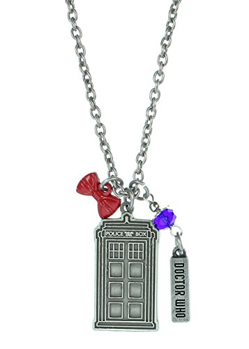 [Stainless Steel Doctor Who Multi Charm Pendant Necklace] (David Tennant Who Costume)